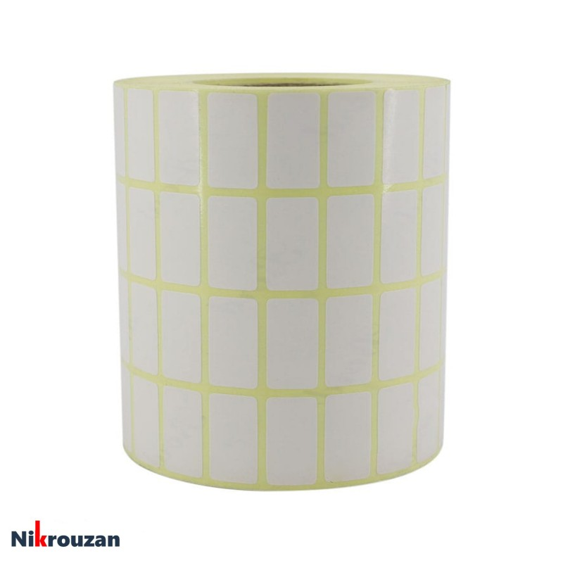 لیبل (برچسب) کاغذی چهار ردیفه Paper Label 12×25