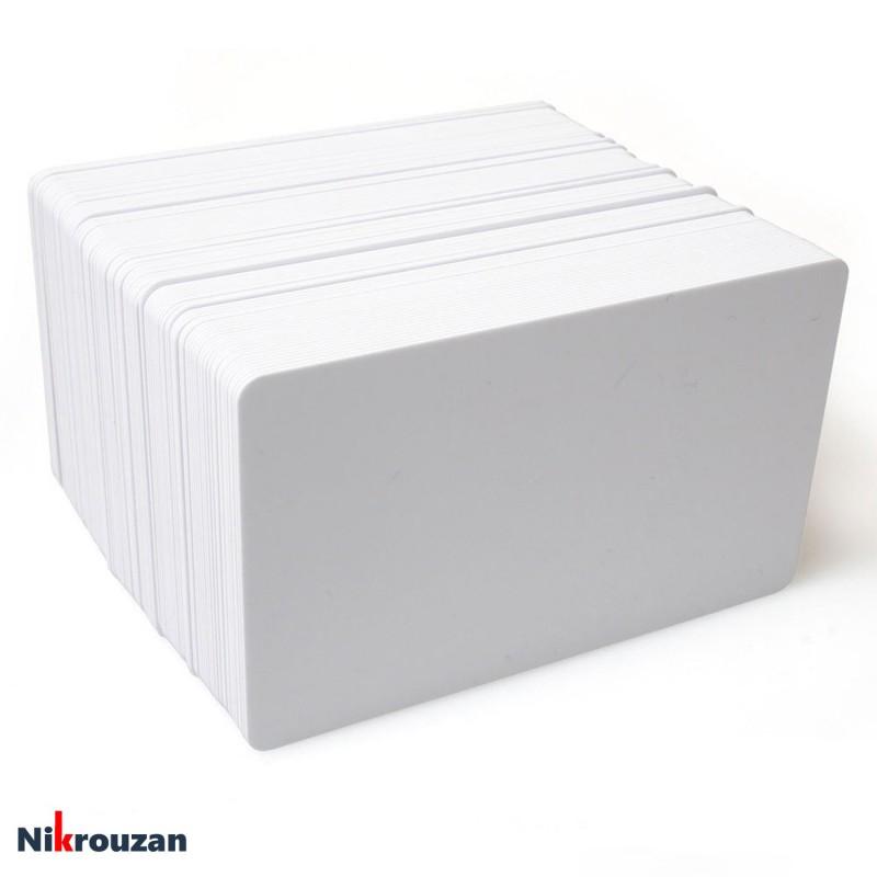 کارت پی وی سی ساده 100 عددی Blank PVC Card