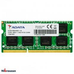 رم لپ تاپ ای دیتا مدل  ADATA DDR3L 8GB 1600MHz