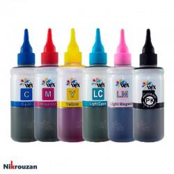 جوهر شش رنگ وکس برای پرینترهای اپسون مدل EPSON Wox 100ml