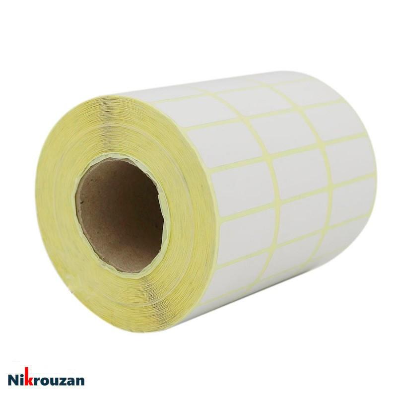 لیبل (برچسب) کاغذی سه ردیفه Paper Label 15×45